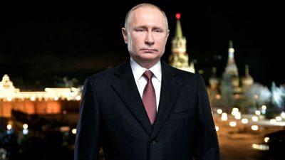 """Putin ruft Russen in Neujahrsansprache zu """"Einheit"""" auf"""