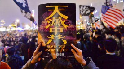 """Protest in Hongkong: Bis zu drei Jahre Haft bei """"Respektlosigkeit"""" gegenüber der Nationalhymne"""