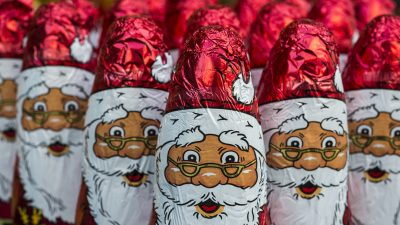 151 Millionen Schoko-Weihnachtsmänner produziert