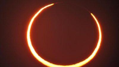 Ringförmige Sonnenfinsternis zieht über die nördliche Hemisphäre