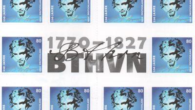 Mit Beethoven um die Welt: Konzerte und Sonderbriefmarken zum 250. Geburtstag