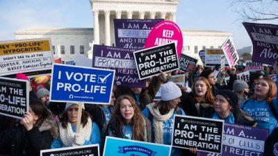 """Donald Trump nimmt als erster amtierender Präsident am """"Marsch für das Leben"""" teil"""