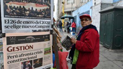 Peruaner stimmen über neues Parlament und Reformkurs von Präsident Vizcarra ab