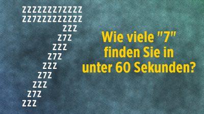 """60-Sekunden-Rätsel: Wie viele """"7"""" finden Sie in einer Minute? + Lösungen"""