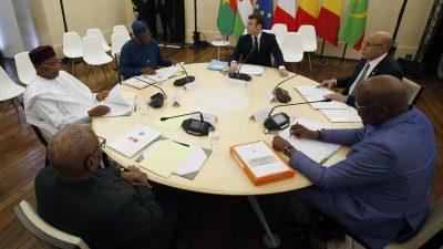 Macron und Sahel-Staatschefs verstärken Anti-Terror-Kampf