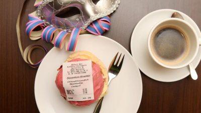 Ein Bäcker, die Bonpflicht und der Fasching: Krapfen mit eingebackener Quittung
