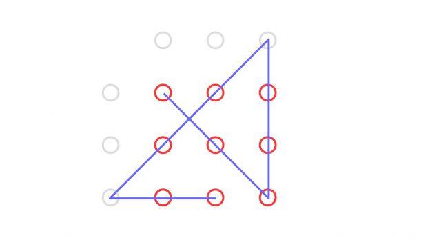 """Vier Gerade Linien, die über den """"Tellerrand"""" hinausschauen, verbinden alle Punkte."""