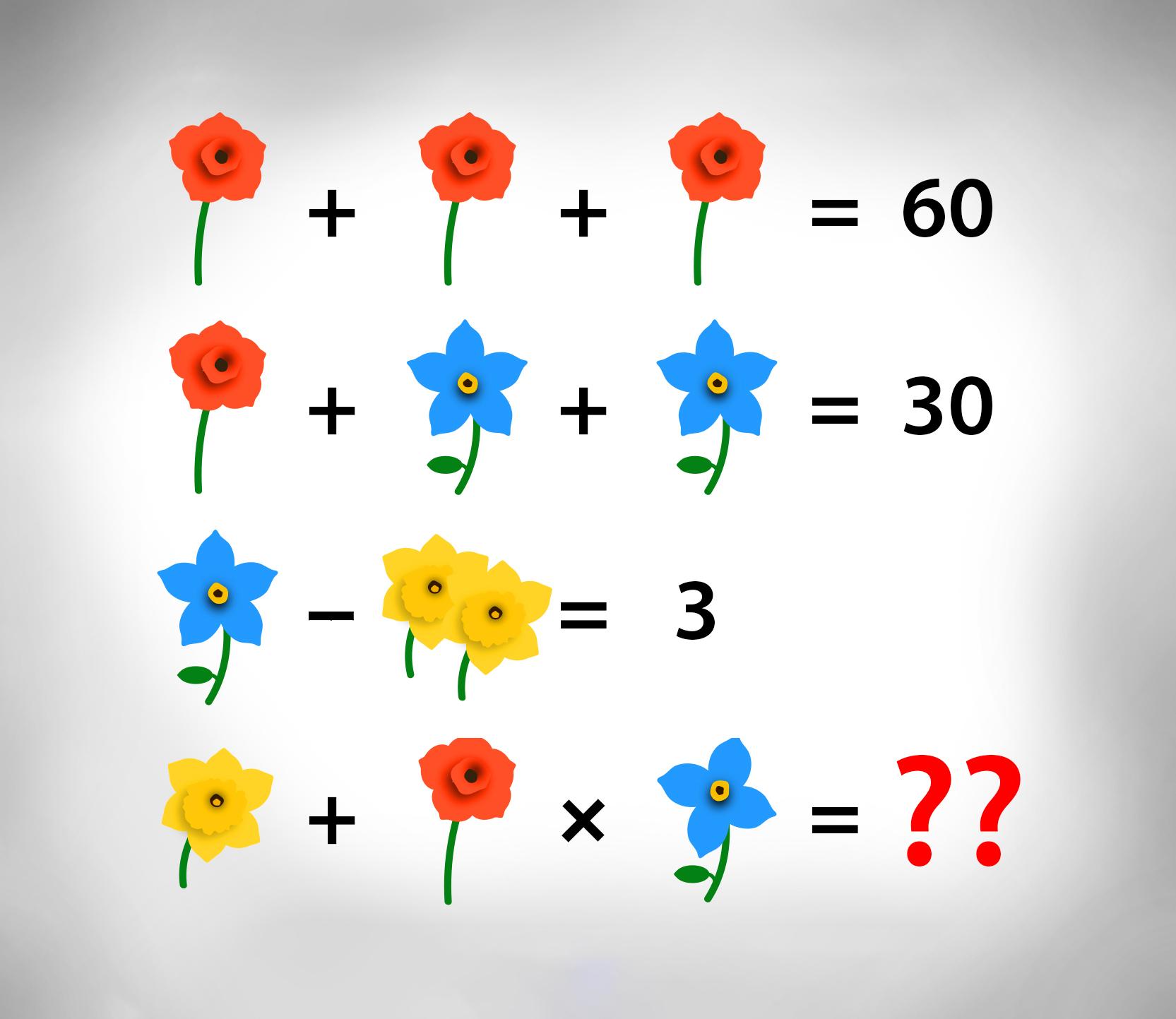 Können Sie dieses blumige Rätsel lösen?
