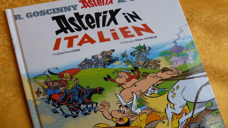"""In """"Asterix in Italien"""" tauchte der - nicht das - Coronavirus bereits 2017 als Favorit des Transcaliga-Rennens auf."""