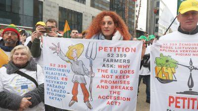 EU-Landwirte machen mobil gegen vorgeschlagene Kürzungen im EU-Haushaltsplan