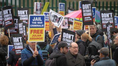 Auslieferungsverfahren gegen Julian Assange hat unter internationalen Protesten begonnen