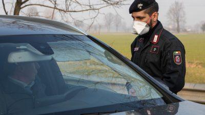 """Unsicherheit in """"Roter Zone"""" in Norditalien – Quarantänegebiet mit Schlupflöchern"""