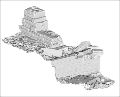 3D Scan der bisher ausgegrabenen Bereiche des neuen Heiligtums in Yeha