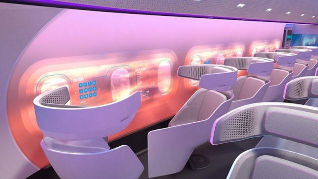 Die neue Airbus-Konstruktion erlaubt mehr Platz für Passagiere.
