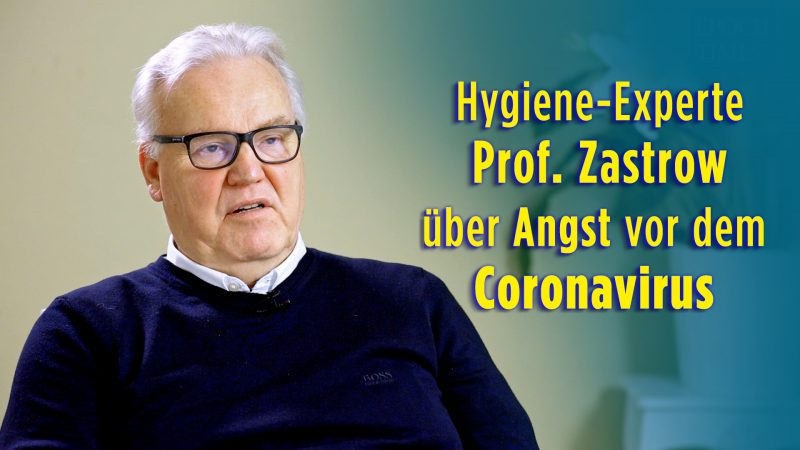 Interview: Hygiene-Facharzt Professor Zastrow zur Angst vom Coronavirus