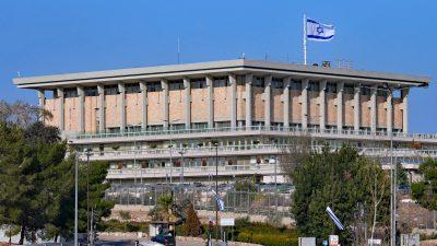 Abgeordnete in Israel stimmen in erstem Schritt für Parlamentsauflösung