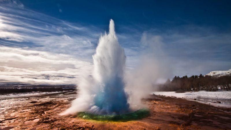 Geysire nutzen die gleiche Energiequelle wie Geothermie.