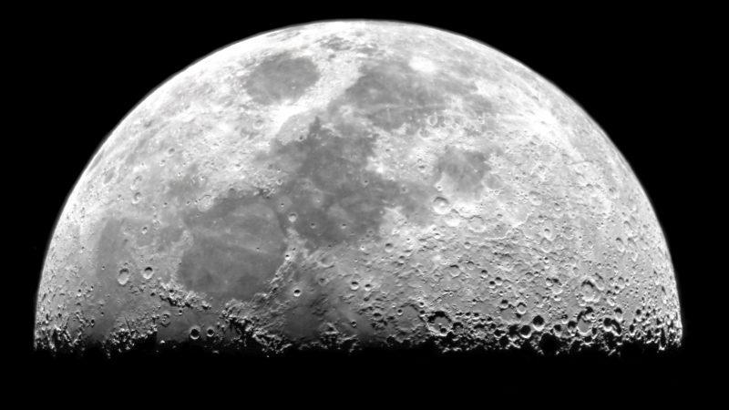 Hochauflösende Bilder des Mondes reichen nicht, um den Mondstaub zu analysieren.