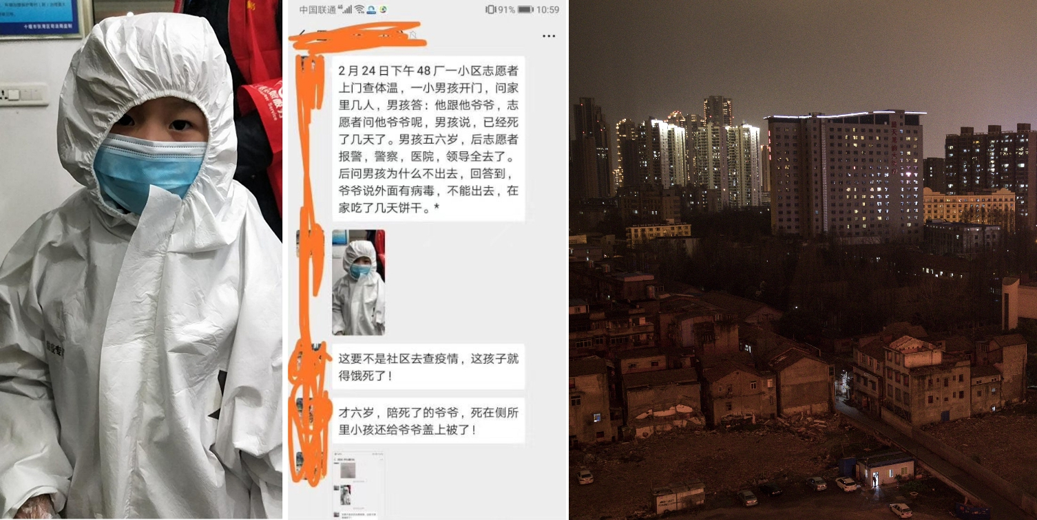 """Ausgangssperre: """"Stimmen aus der Hölle"""" von Wuhan – Junge lebte tagelang bei totem Opa"""