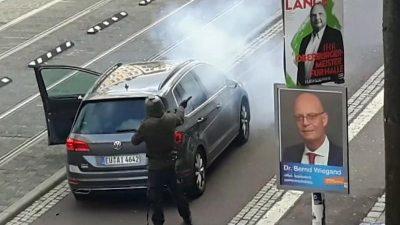 Keine erste Hilfe, keine Schutzausrüstung – Kritik an Polizeieinsatz nach Synagogenangriff in Halle