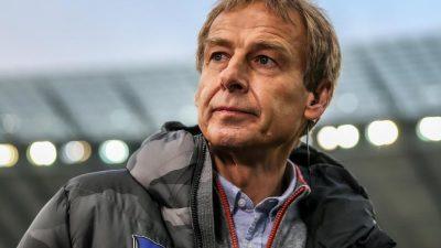 Klinsmann bei Hertha BSC auch nicht mehr im Aufsichtsrat