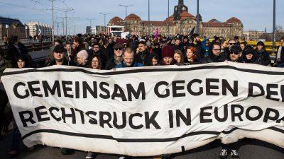 Proteste gegen Neonazi-Marsch in Dresden