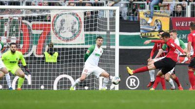 Freiburg muss weiter auf Bundesligasieg in Augsburg warten