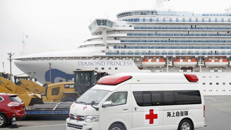 """Das japanische Gesundheitsministerium hatte bis Sonntag mehr als 1200 der rund 3400 Passagiere und Crewmitglieder des Kreuzfahrtschiff """"Diamond Princess"""" getestet."""