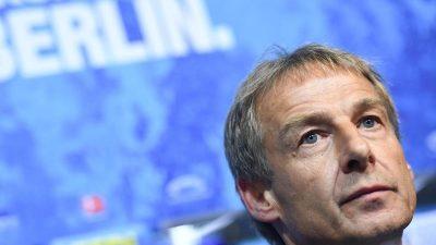 «Zuerst kommt Jürgen»: Klinsmann-Tagebücher als Hertha-Last