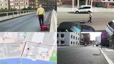 Berliner Künstler erzeugt virtuelle Staus auf Google Maps mit einem Handwagen voller Smartphones