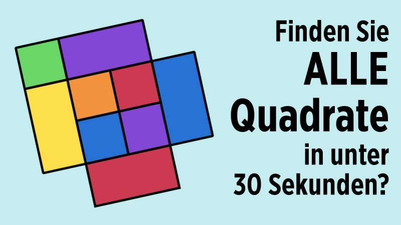 Finden Sie alle Quadrate?