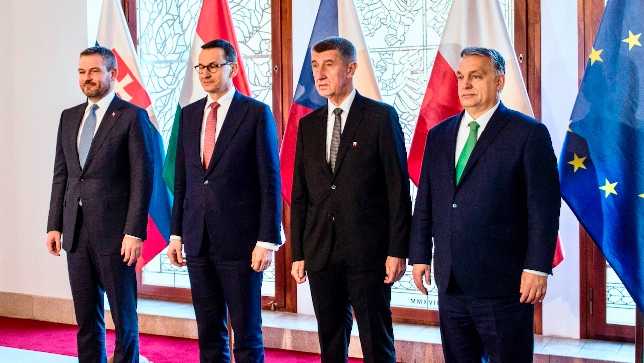 """Visegrad-Staaten demonstrativ geeint gegen """"russische Aggression"""" in Tschechien"""