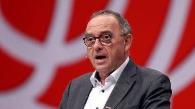 Walter-Borjans fordert in Corona-Krise Mehrbelastung für Reiche