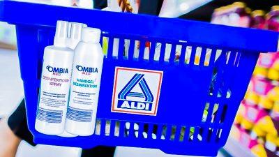 Knapp und begehrt: Aldi bietet ab Montag Desinfektionsmittel an