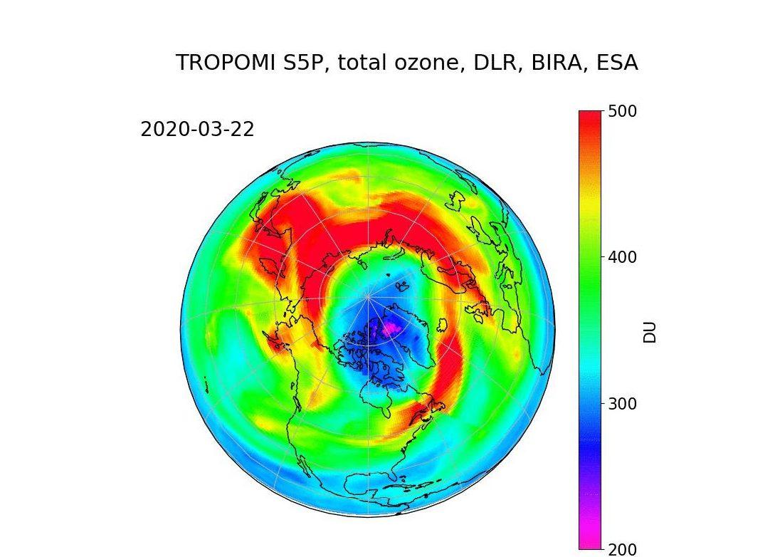 Erstmals Ozonloch über dem Nordpol