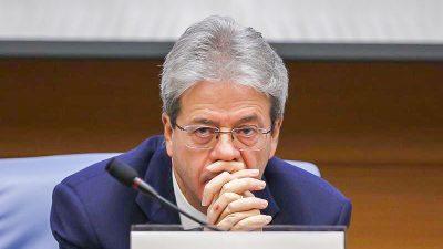 Gentiloni warnt vor Auseinanderbrechen der Euro-Zone