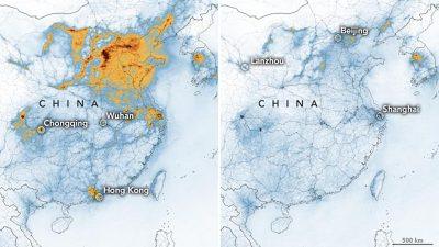 Reduzierte Stickoxide in China wegen Coronavirus-Epidemie – Verkehr und Industrie liegen lahm