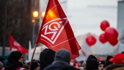 60.000 Beschäftigte folgen Streikaufruf der IG Metall am Dienstag