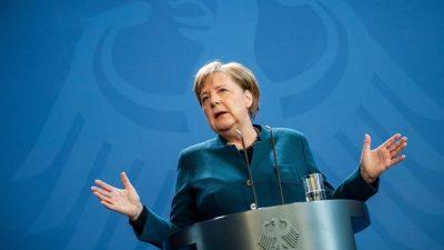 Pressekonferenz Angela Merkel über Maßnahmen zur Bekämpfung der Verbreitung von COVID-19