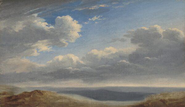 """Naturgetreu gezeichnet """"Studie der Wolken über der römischen Campagna"""", um 1782 bis 1785, von Pierre-Henri de Valenciennes."""