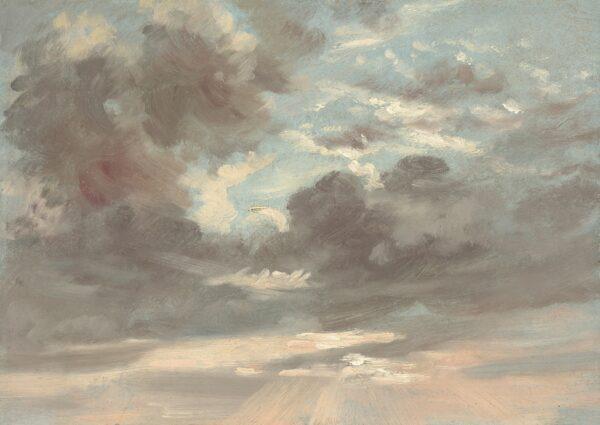 """""""Wolkenstudie: Stürmischer Sonnenuntergang"""", 1821–1822, von John Constable."""