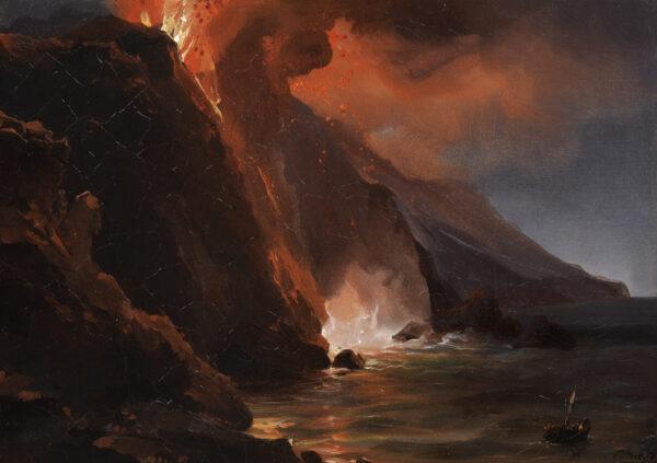 """""""Der Ausbruch von Stromboli, 30. August 1842"""" von Jean-Charles Rémond."""