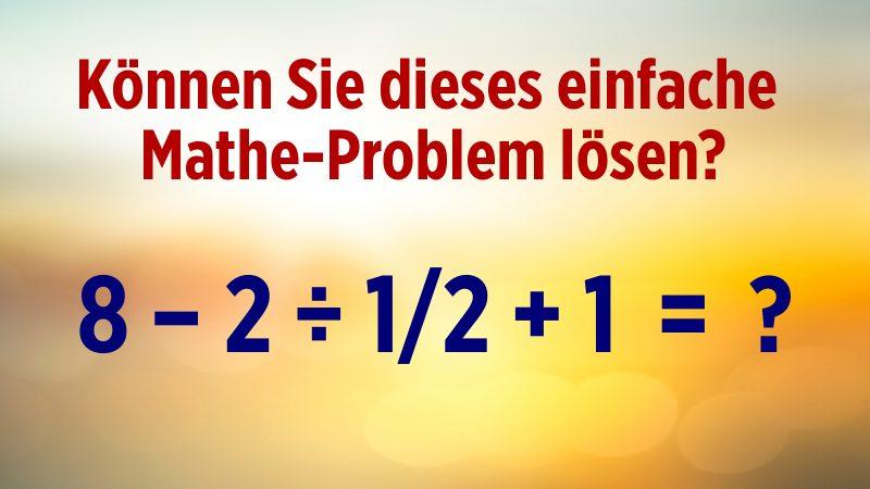 Mathe-Rätsel Bruchrechnung