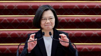 Taiwans Präsidentin macht Unterstützung für Hongkonger Demokratiebewegung deutlich