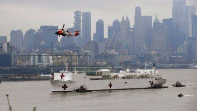 US-Krankenhausschiff verlässt New York nach Anti-Corona-Einsatz wieder