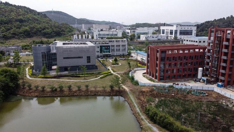 Luftbild vom P4-Labor des Wuhan-Instituts für Virologie (China, Provinz Hubei).