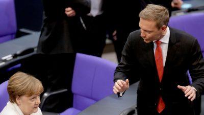 """Lindner: """"Merkel ist im Modus der Alternativlosigkeit"""" – Regierung spricht zu uns """"wie zu Kindern"""""""