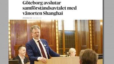 Göteborg will Städtepartnerschaft mit Shanghai beenden