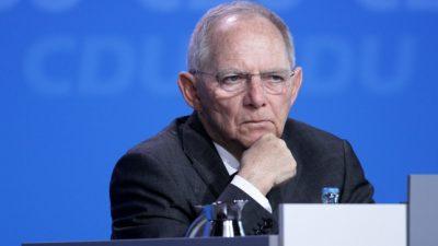 """Wolfgang Schäuble für """"Notlösung"""" in Sachen Wahlrechtsreform"""