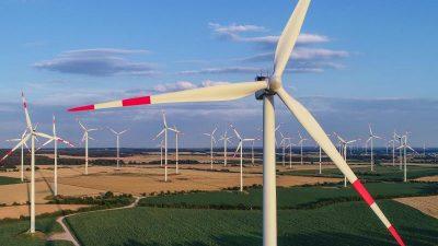 Wieder mehr neue Windräder gebaut